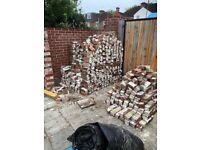 1000 secondhand bricks, needs refurbishment or use as hardcore