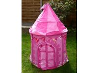 Girls Pink Princess Garden Play Tent