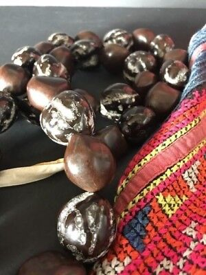 Old Hawaiian Seed Necklace Dark Colour …beautiful accent piece