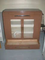 Solid Wooden Antique China Or Display Cabinet