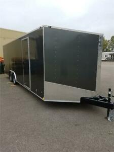 NEW 2019 8.5X16 8.5X18 8.5X20 V NOSE ENCLOSED TRAILERS ON SALE