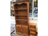 6 foot pine bookcase free local delivery