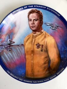 Captain James T Kirk Commemorative Plate Star Trek