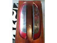 Pair of rear lights off a vauxhall corsa 1.3