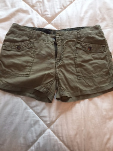 Roots Army Green Shorts Size 6 $20