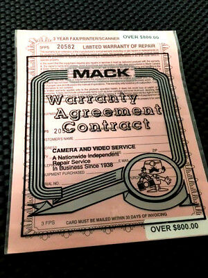 MackrThree-Year Extended Warranty for Fax/Printer/Scanner Over $800