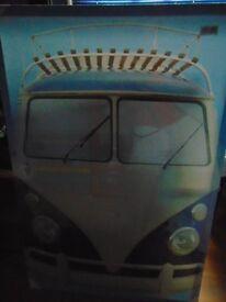VW Split Screen Camper Canvas Picture, New
