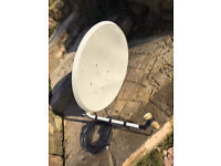 Used Freesat Dish with LNB and mounting Bracket
