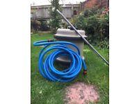 Aqua roll water barrel with 5m of food grade hose