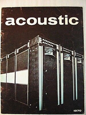 ACOUSTIC AMPLIFIER CATALOG AND PRICE LIST 1970---260, 360, 150, PA SYSTEM RARE for sale  Florissant