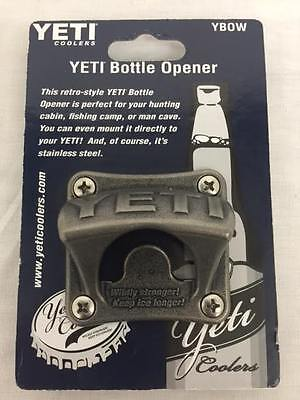 AUTHENTIC YETI COOLERS RETRO VINTAGE STYLE WALL SURFACE MOUNTED BOTTLE OPENER