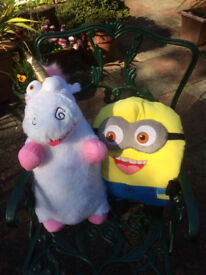 2 Minions Cushions/Cuddlies - Minion and Unicorn - £6 - vgc