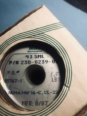Mws Wire Industries Magnetic Wire 43 Sml