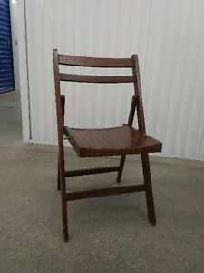 3 High Quality WOOD Folding Chairs + 2 Reclining Patio Chairs