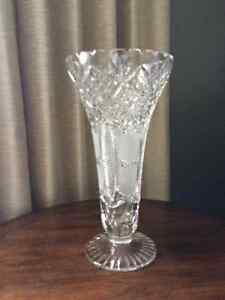 Vintage pinwheel crystal vases