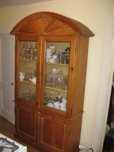 LARGE ONE PIECE PINE CUPBOARD
