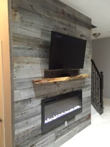 THE ART OF STONE - BARN WOOD PLANKS, BARN WOOD FIREPLACE MANTELS