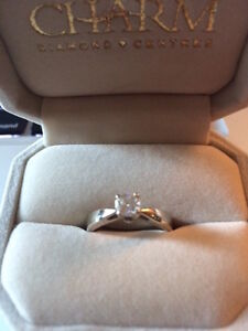 14K WHITE GOLD SERENADE .40CT SOLITAIRE ENGAGEMENT RING