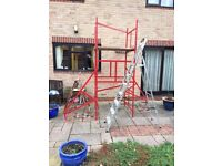 scaffold for sale suitable for indoor or outdoor use. £45 or near offer.