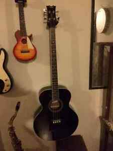 Dean Acoustic bass with soft case and pickup