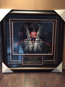 Connor McDavid Signed 16x20 Etched Mat Tunnel Photo Framed