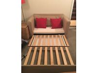 IKEA 2 seater Sofabed Beige 3 years old good condition only had occasional use