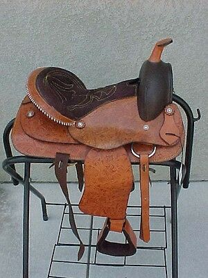 "13"" NEW ALL LEATHER TAN WESTERN PLEASURE  TRAIL SADDLE"