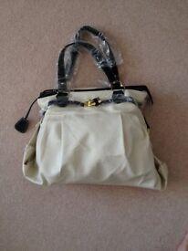 New with tags - Nicole Faux Leather Handbag - Cream