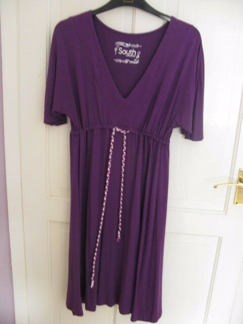 "Purple ""South Collection""dress size 8. Suitable for all occasions, comfortable to full term."
