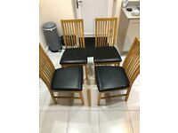 Chair set ( 4 wood dining )