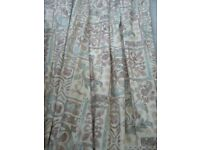 pair large quality professionally made lined curtains - Southbourne