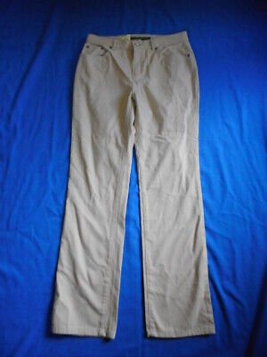 """NWT Womens Pants-RALPH LAUREN-beige 100% brushed cotton jean-style """"Tanya""""-4P"""