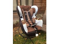 Car seat with isofix base for sale.
