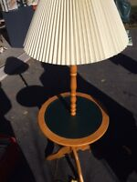 Cottage table and lamp