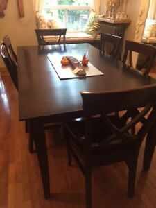 Dine Art Dining Table with 8 Chairs and Buffet/Hutch Set
