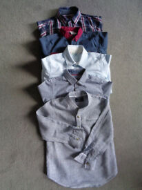 5x boys cotton & linen shirts 4 and 4-5 yrs