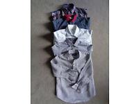 5x boys cotton & linen shirts 4 and 4-5 yrs
