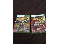 Two Xbox games borderlands c18