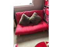 Argos Tosa 2 Seater Red Futon Sofa Bed in excellent condition