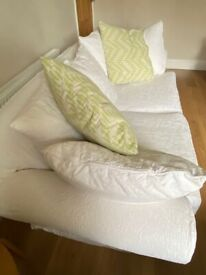 Large Sofa from Pondsford - Cream Fully Removable and Washable Covers
