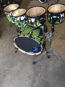 Pearl Vision Birch 5PC Drum Shells