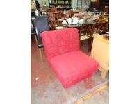 Single Red Sofa Bed
