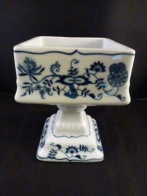 Blue Danube SQUARE COMPOTE  PEDESTAL BOWL   PERFECT FOR NUTS  Blue Square Bowl