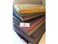 Batch E retro vintage fabric material includes tweeds