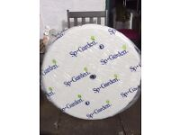 White round garden table **new & unopened**