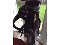 *KNIGHT* GOLF BAG TROLLEY CART Approx Length 90cm Width 25cm Depth 20cm Good Used