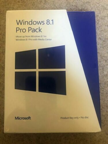 New Sealed Microsoft Windows 8.1 Pro Pack with Media Center Retail Box 5VR-00139