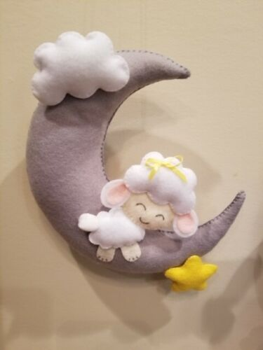 Sweet Lamb Moon & Cloud Wall Decor
