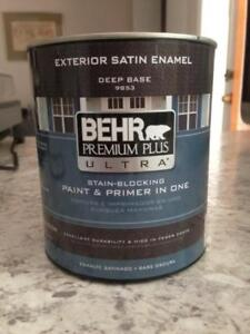 Behr Premium Plus Paint and Primer Ultra- NEW - brown
