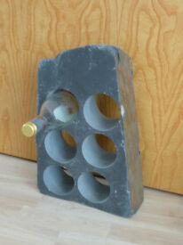 Solid granite Wine rack for 6 bottles